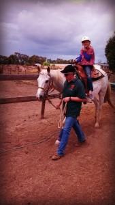 Jakayla loved riding Judy's horse