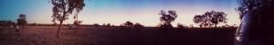 My panoramic sunset