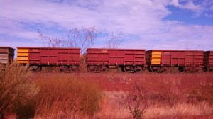 One of the Rio Tinto trains hard at work