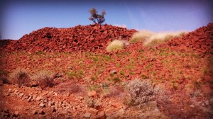 Rocks and spinifex everywhere in the Pilbara